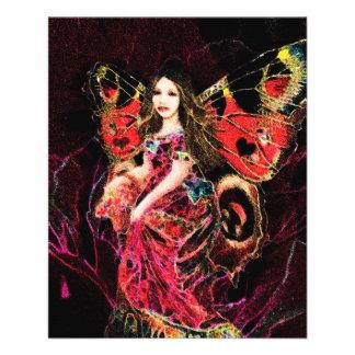 Anjo da borboleta do coração panfletos