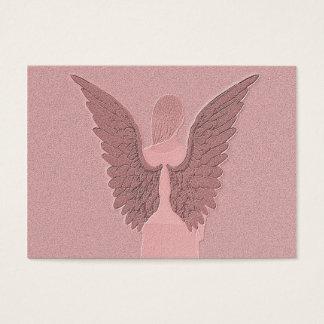 Anjo-da-guarda cor-de-rosa cartão de visitas