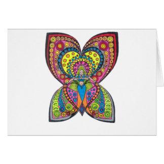 Anjo da harmonia cartão comemorativo