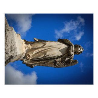 Anjo de pedra impressão de foto