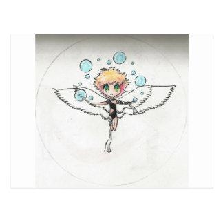 anjo do ar cartão postal