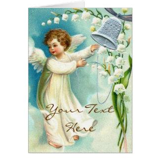 Anjo do bebê com Bell azul