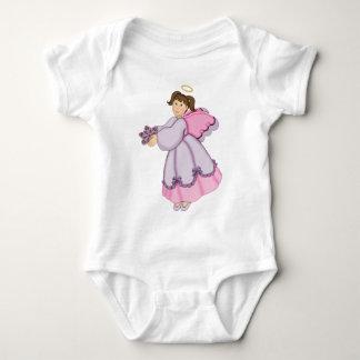 Anjo do floco de neve do Natal - personalize Body Para Bebê
