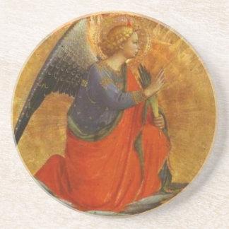 Anjo do Fra Angelico das belas artes do aviso Porta-copos De Arenito