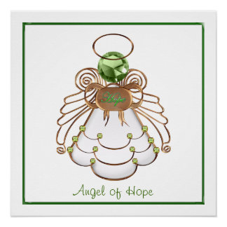 Anjo do Natal da esperança Poster Perfeito