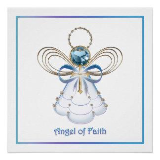 Anjo do Natal da fé Poster Perfeito