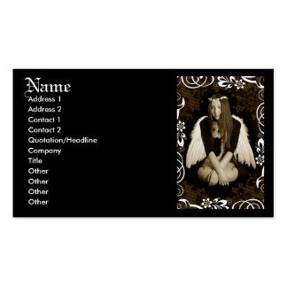 Anjo do vintage cartão de visita