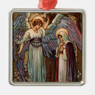 Anjo do vintage com ornamento de Mary