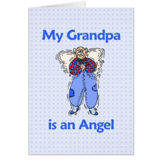 Anjo do vovô cartão comemorativo