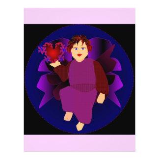 Anjo dos corações mim flyer 21.59 x 27.94cm