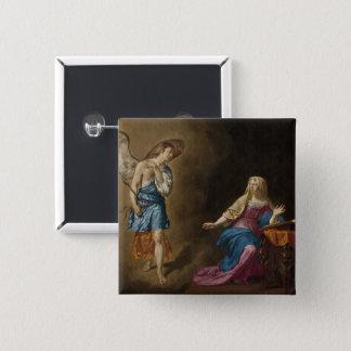 Anjo e Mary do aviso Bóton Quadrado 5.08cm