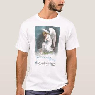Anjo e páscoa do vintage das flores do açafrão t-shirt