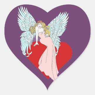 Anjo Faithless Adesivo Coração