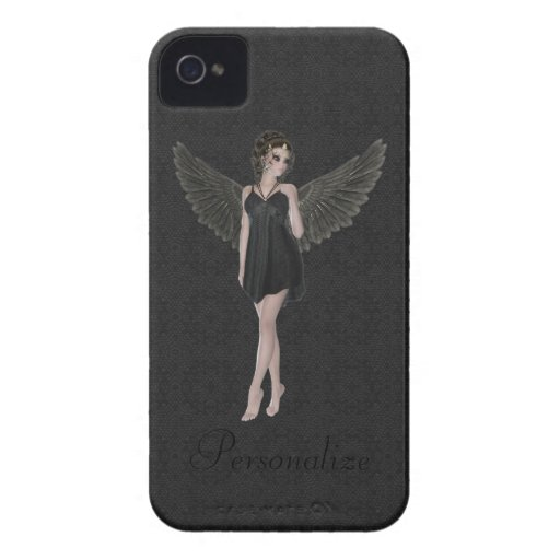 Anjo gótico bonito corajoso de Blackberry iPhone 4 Capa