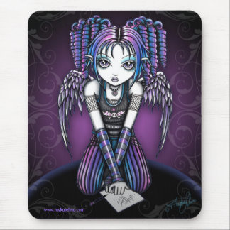 Anjo gótico de Ariel Knealing Mouse Pad