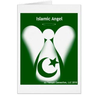 Anjo islâmico cartão comemorativo