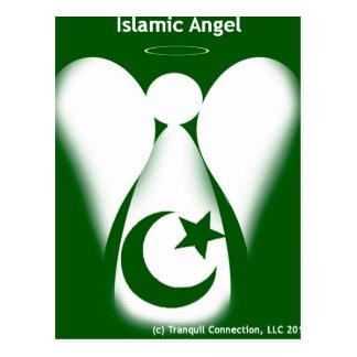 Anjo islâmico cartão postal