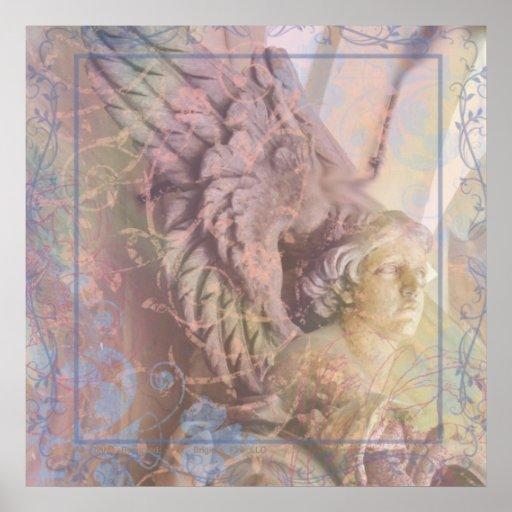 Anjo na alcova - detalhe decorativo italiano posteres