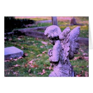 Anjo praying do falecimento da morte do cartão de