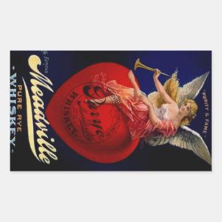 Anjo puro do uísque de Meadville Rye do vintage da Adesivo Retangular
