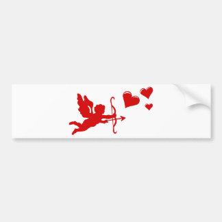 Anjo seta arco amor coração adesivo para carro
