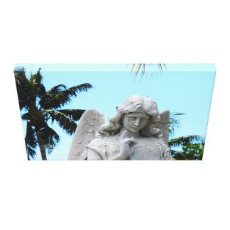 Anjo tropical impressão em tela