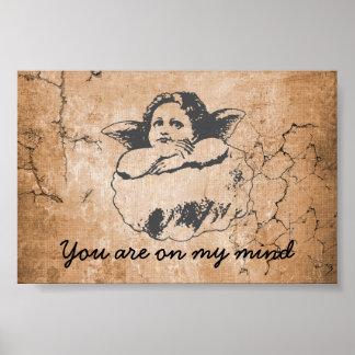 anjo, você está em minhas lojas cristãs da mente poster