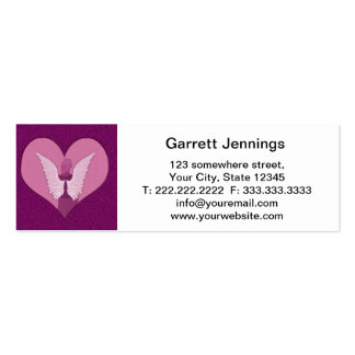 Anjos cor-de-rosa com coração cartão de visita skinny