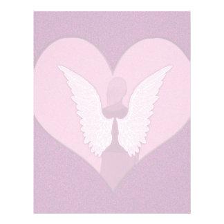Anjos cor-de-rosa com coração flyer 21.59 x 27.94cm