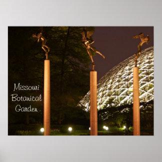 Anjos do jardim botânico de Missouri Poster