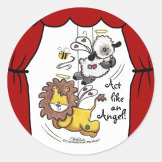 Anjos do leão e do Cordeiro-Jogo Adesivo