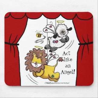 Anjos do leão e do Cordeiro-Jogo Mouse Pad