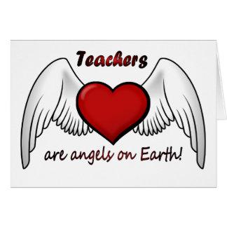 Anjos dos professores cartão comemorativo