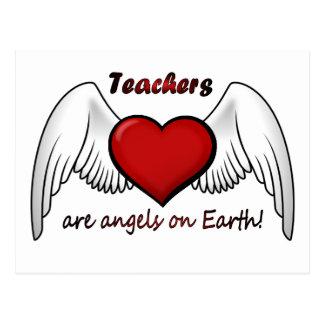 Anjos dos professores cartão postal