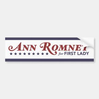 Ann Romney para a primeira senhora Vermelho, branc Adesivo Para Carro