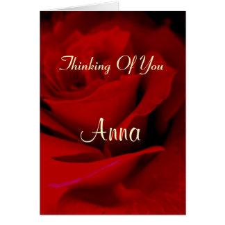 Anna Cartão Comemorativo