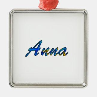 Anna Ornamento Quadrado Cor Prata