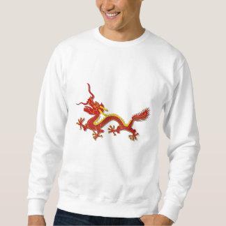 Ano chinês do vermelho e do ouro da camisola do moletom