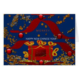 Ano chinês novo feliz cartão comemorativo