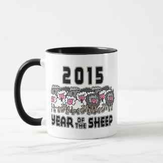 Ano da cabra 2015 da ram dos carneiros caneca