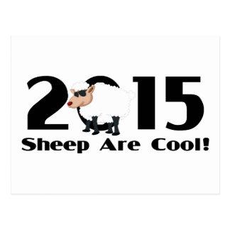 Ano engraçado da cabra 2015 da ram dos carneiros cartão postal