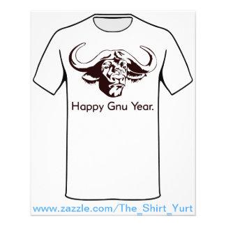 Ano feliz do Gnu Flyer 11.43 X 14.22cm