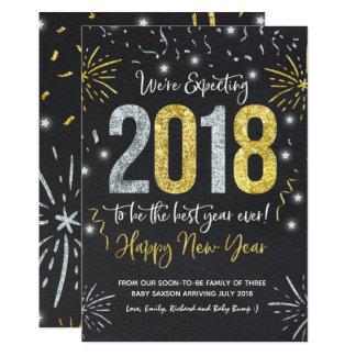 Ano novo 2018 do anúncio da gravidez do ano novo