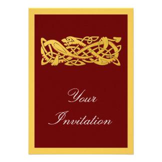 Ano novo chinês - ano do cobra 2013 convite personalizado