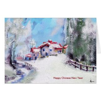 ano novo chinês cartão comemorativo