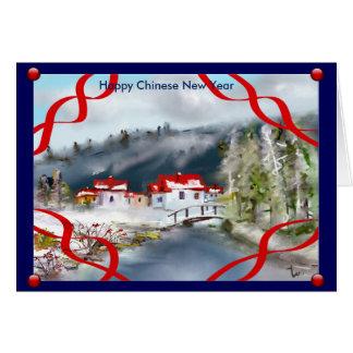 ano novo chinês feliz cartão