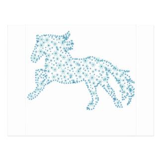 Ano novo do floco de neve do cavalo, tempestade de cartão postal