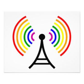 Antena alegre do sinal do arco-íris de WiFi Flyer 11.43 X 14.22cm