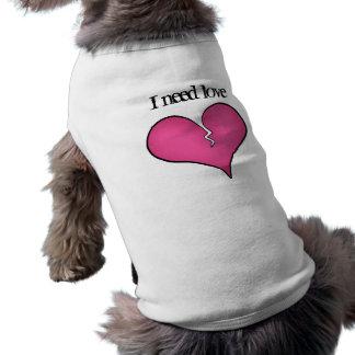 Anti dia dos namorados do coração cor-de-rosa queb roupas para caes