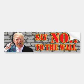 Anti Donald Trump diz NÃO à vara do pára-choque da Adesivo Para Carro